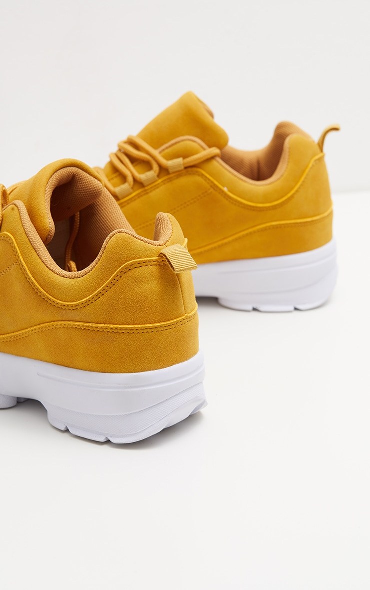 Sand Chunky Cleated Sole Sneakers 4