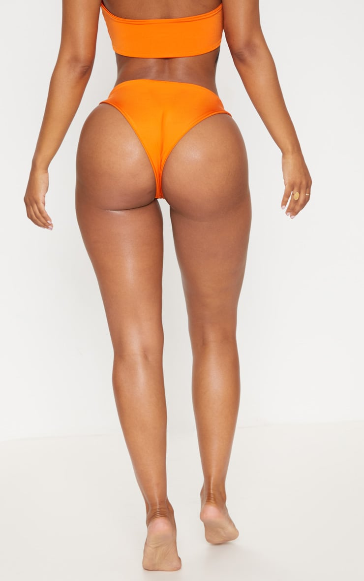Shape Orange Tiny Bikini Bottom 4