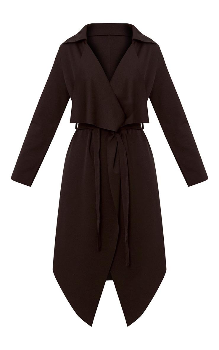 Jeane Black Belted Waterfall Jacket 3