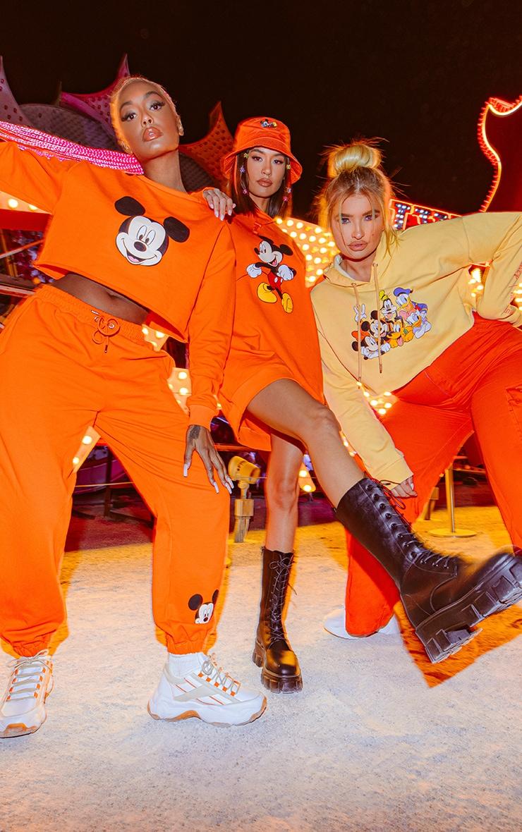 Orange Disney Mickey Sweater Dress 3