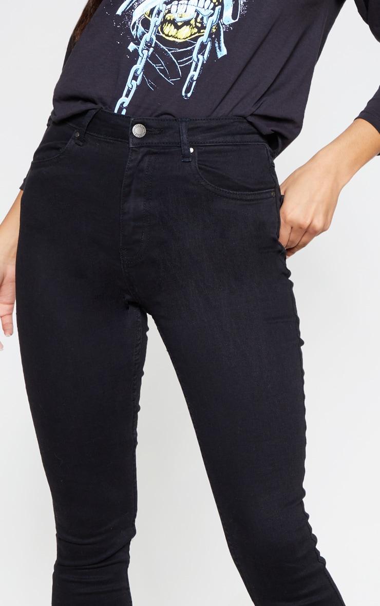Jean skinny noir à 5 poches 5