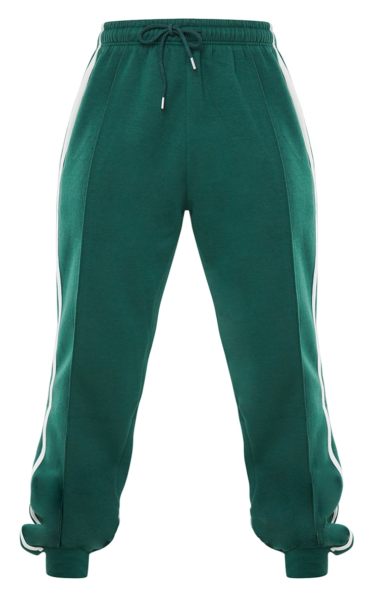 Forest Green Double Side Stripe Joggers 5