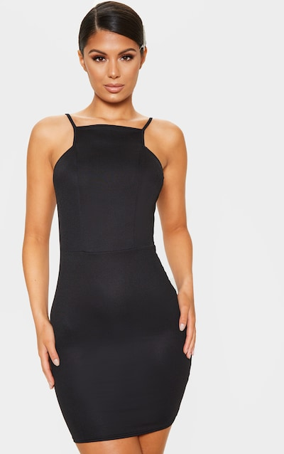 Black sheer strappy textured glitter bodycon dress young india