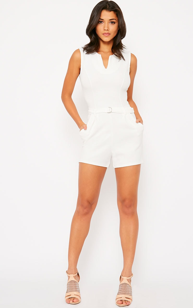 Evie Cream D-Ring Playsuit 3
