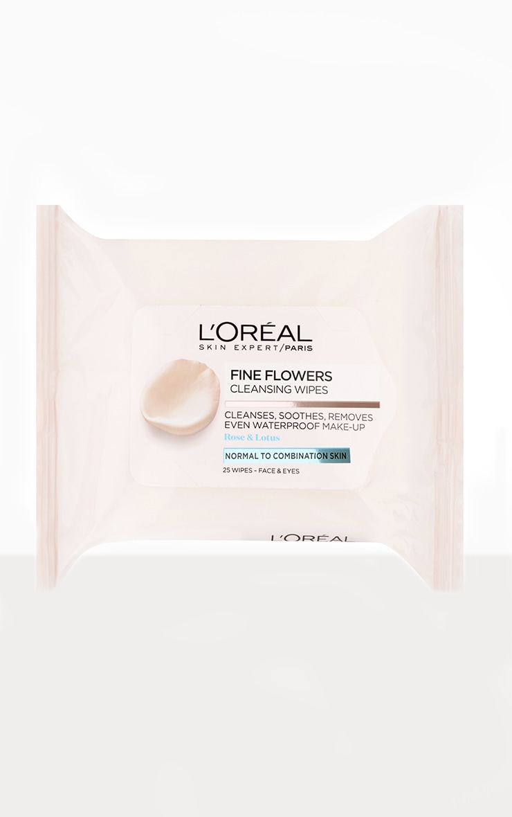 L'Oreal Paris Fine Flowers Cleansing Wipes Normal to Combination Skin x25 1
