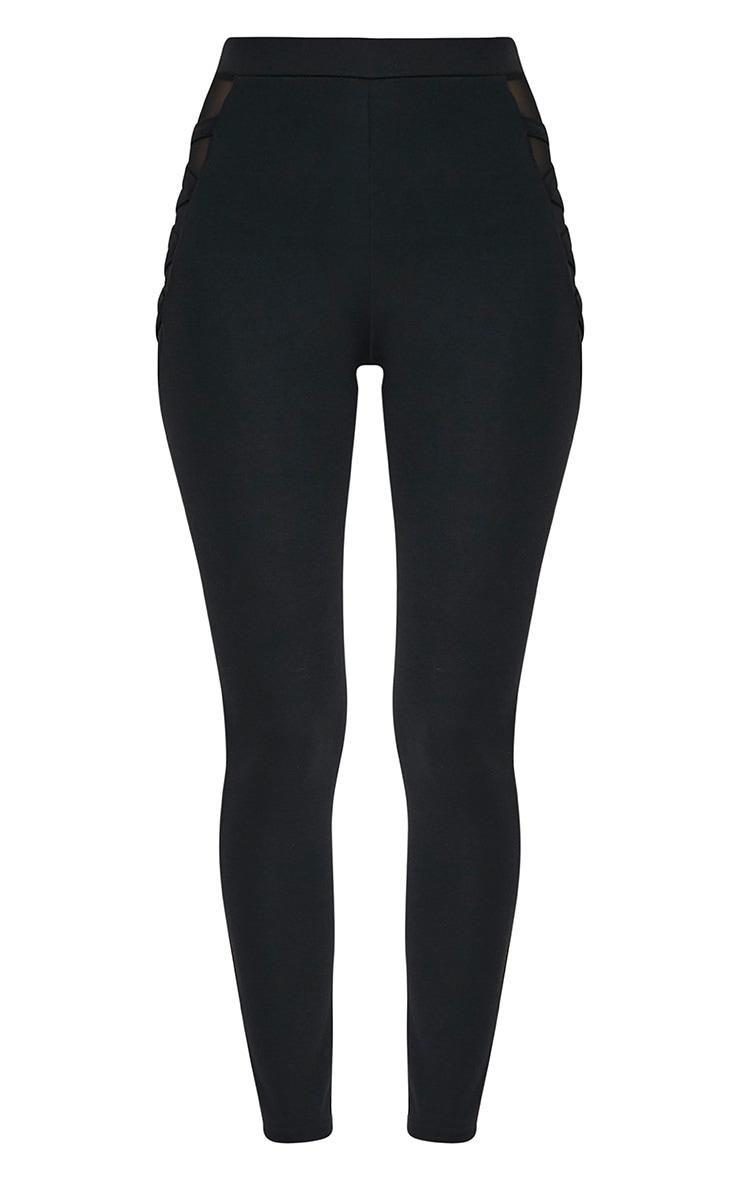 Silvie Black Mesh Hip Leggings 3