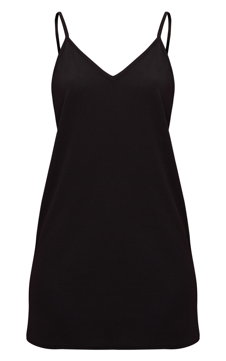 Black Strappy Detail Backless Cami Dress 3
