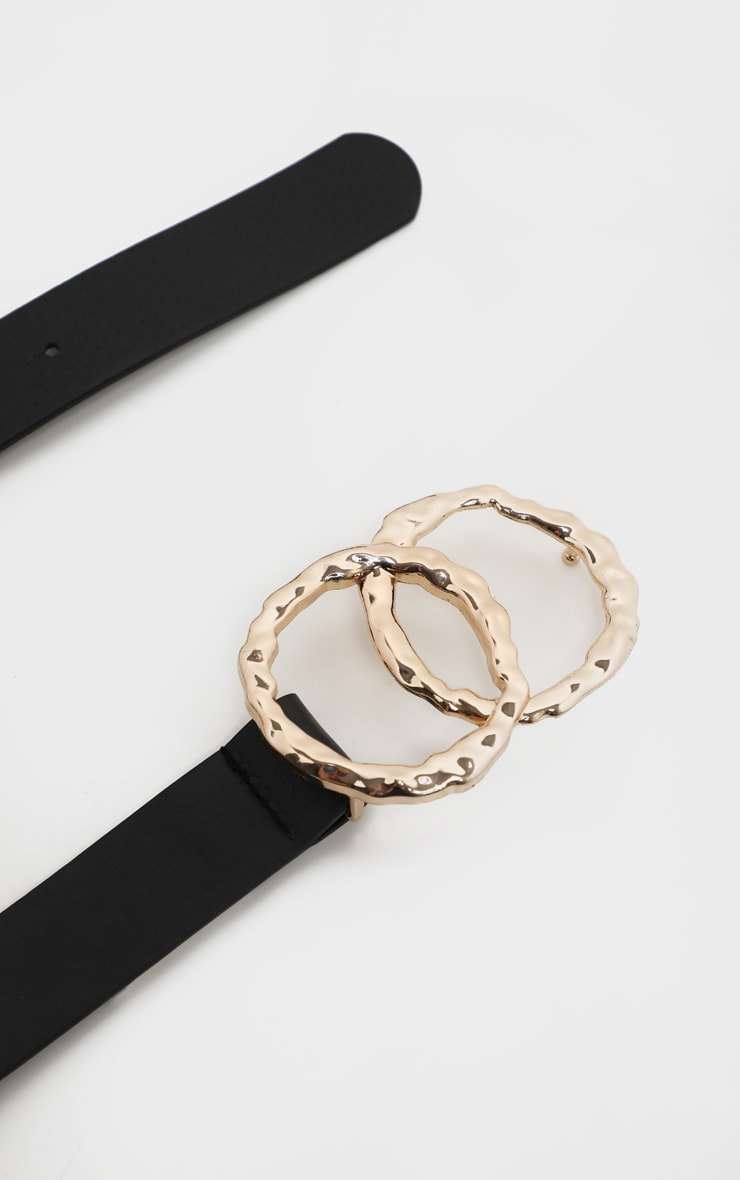 Black Double Ring Buckle Belt 4