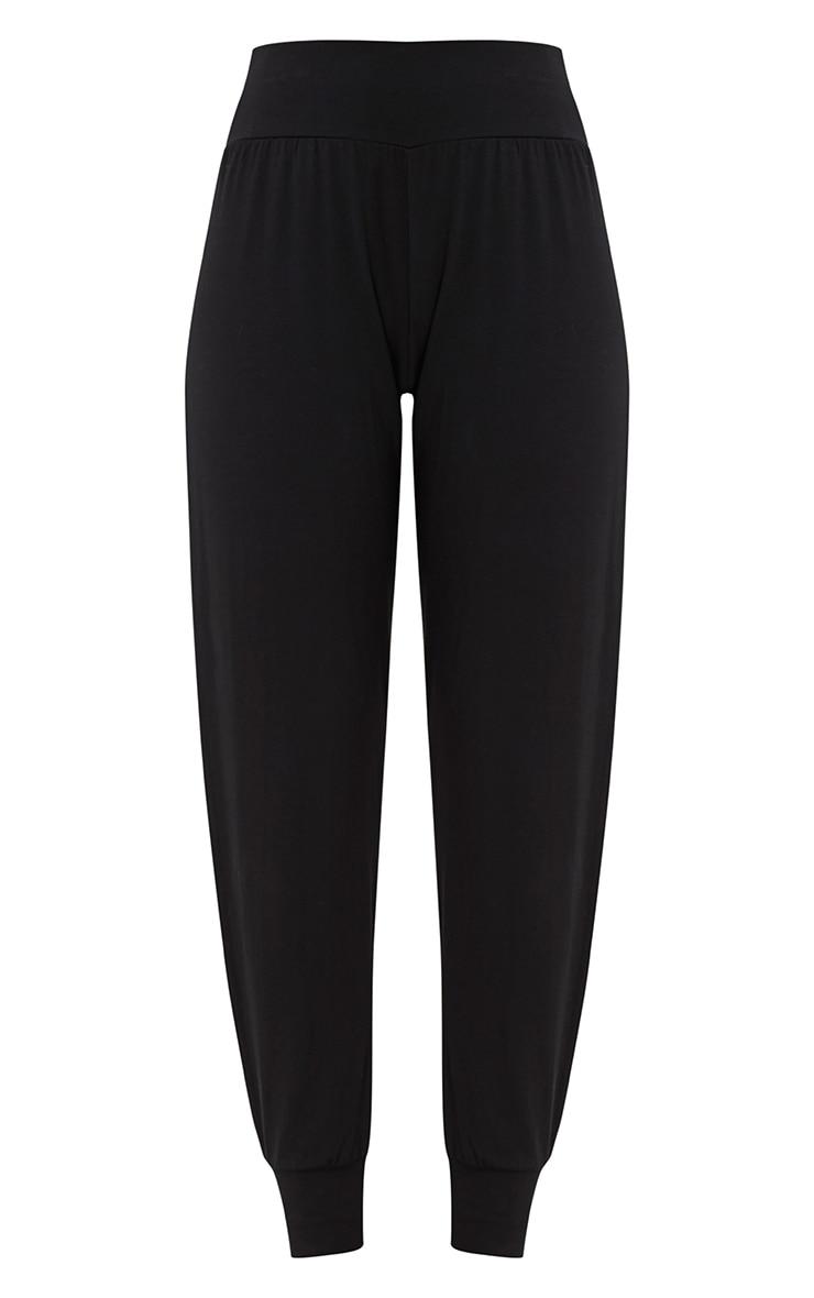 Chasity pantalon en jersey fendu sur le côté noir 3