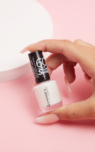 Rimmel 60 Seconds Super Shine Nail Polish White Hot Love