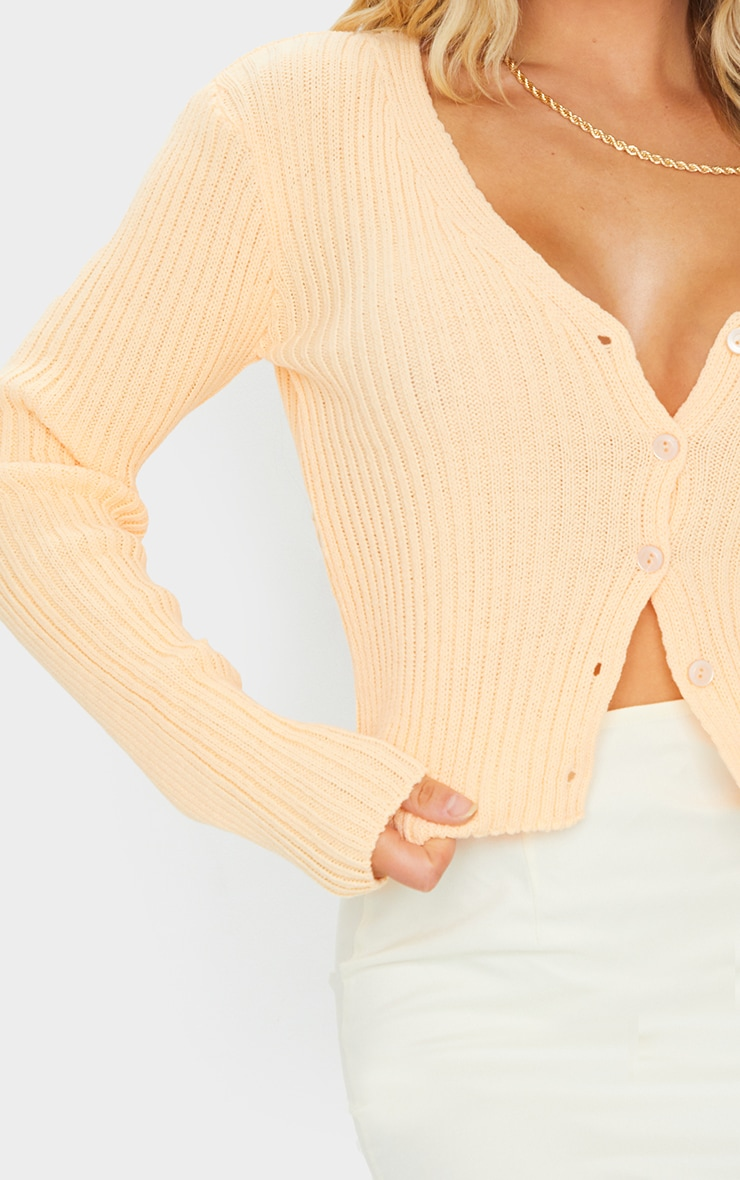 Peach Button Front Cardigan 4