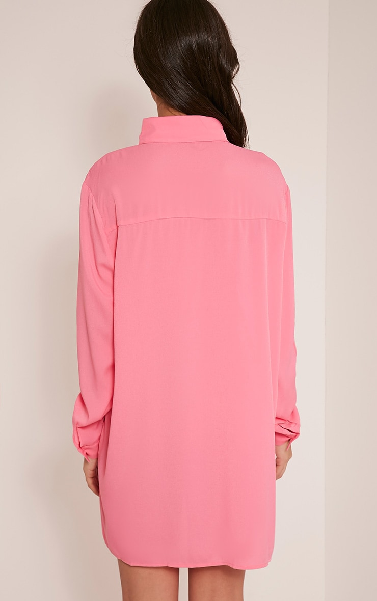 Effy Bubblegum Pink Shirt Dress 5