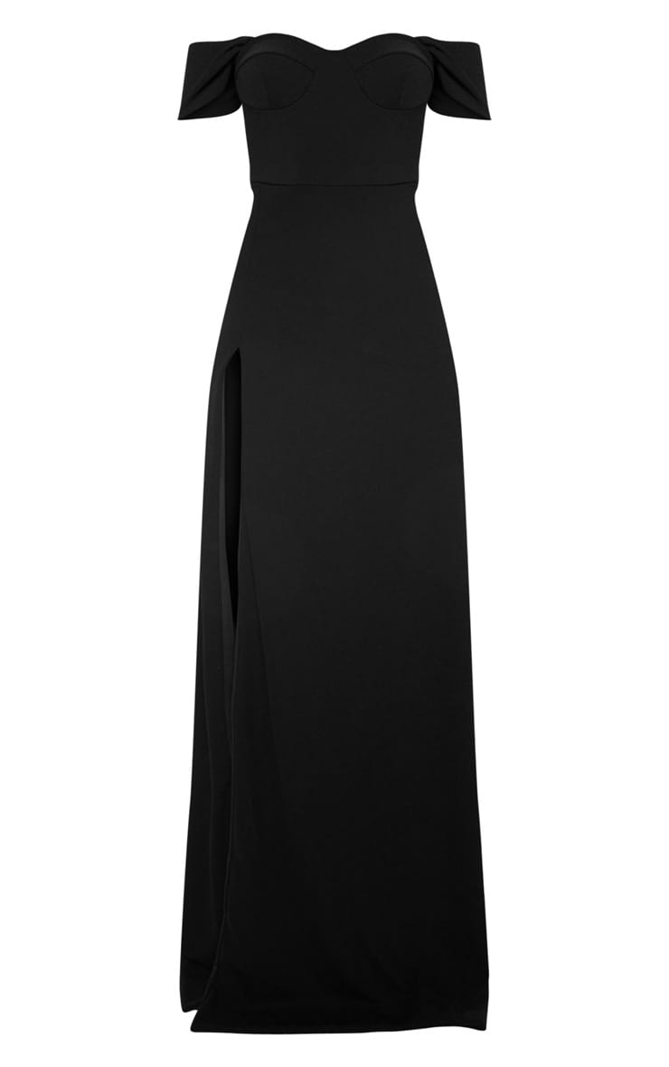 Black Cup Detail Maxi Dress 3
