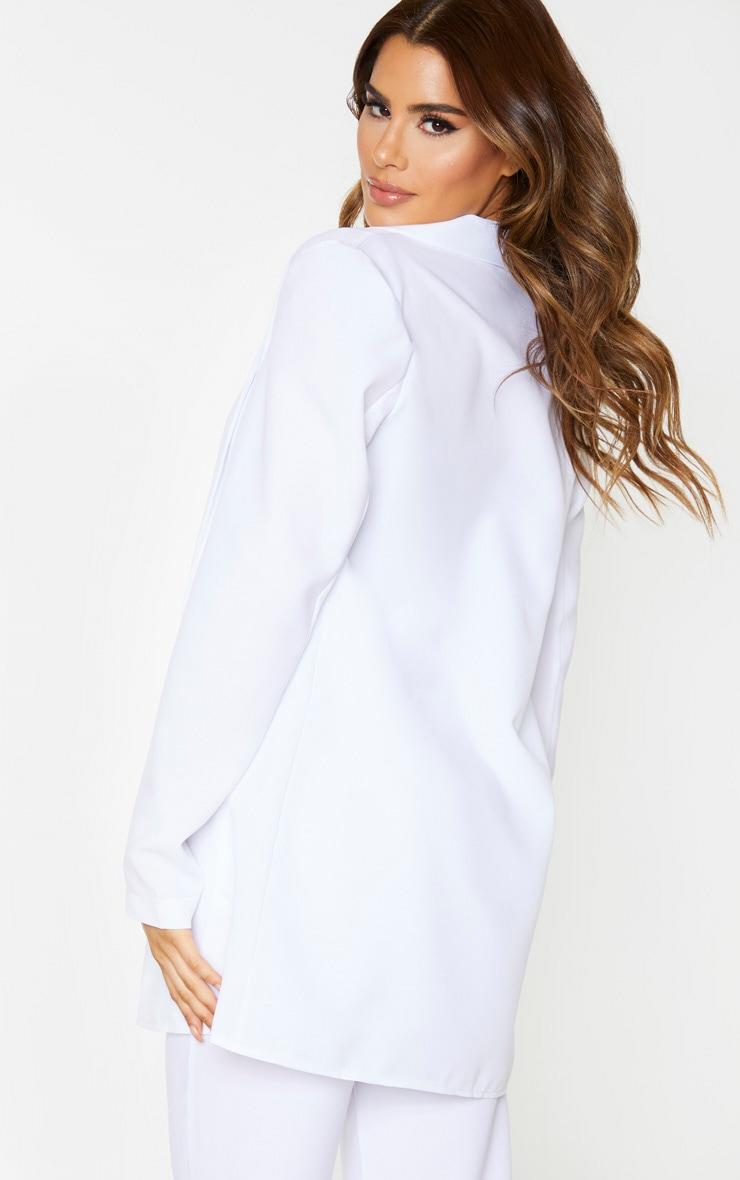 Tall White Oversized Longline Blazer 2