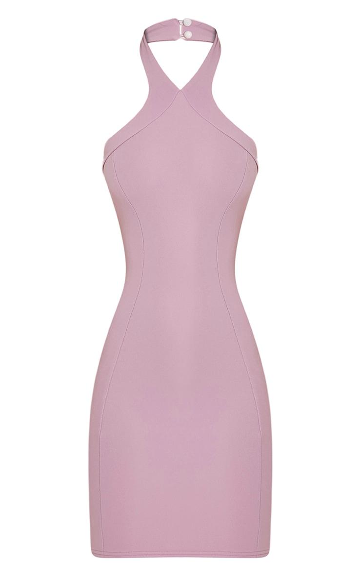 Kathy Mauve Halterneck Crepe Bodycon Dress 3