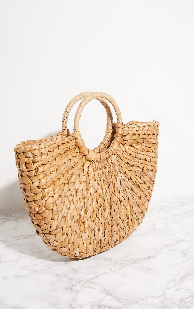 Straw Half Circle Bag 3