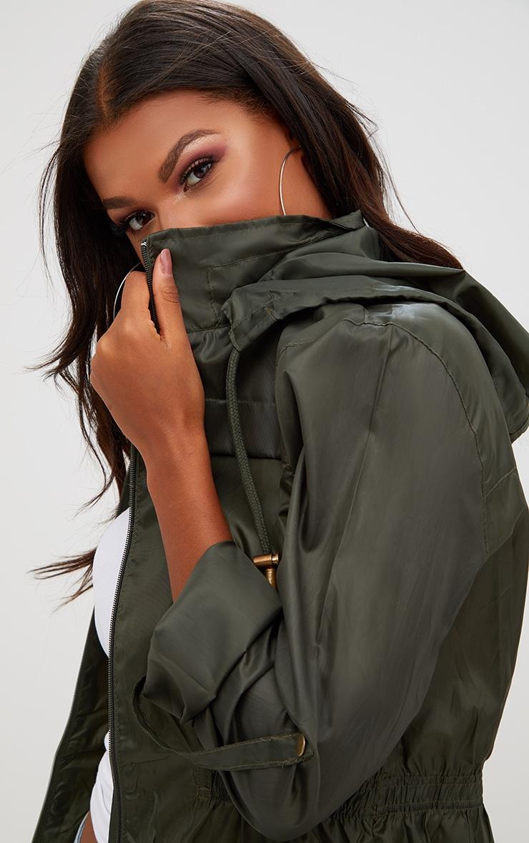 Khaki Waterproof Raincoat 4