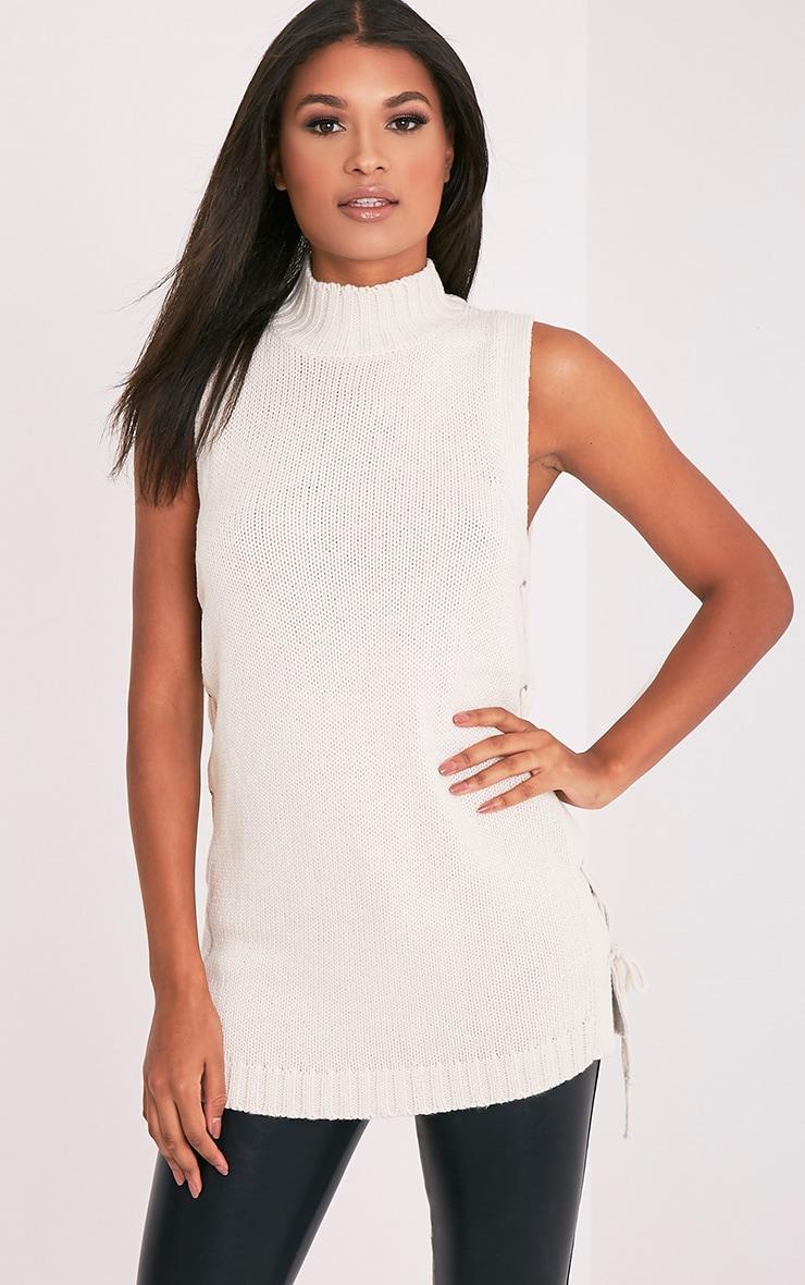 Jennalyn Cream Side Tie Vest 4