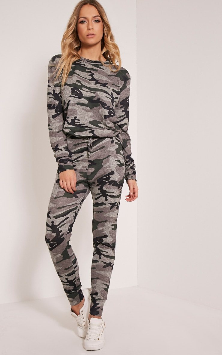 Grechin Green Camouflage Tracksuit Bottoms 1