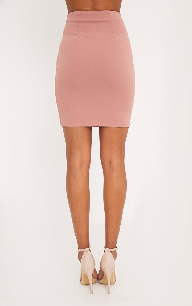 Reigen Rose Trapeze Lace Up Mini Skirt 4