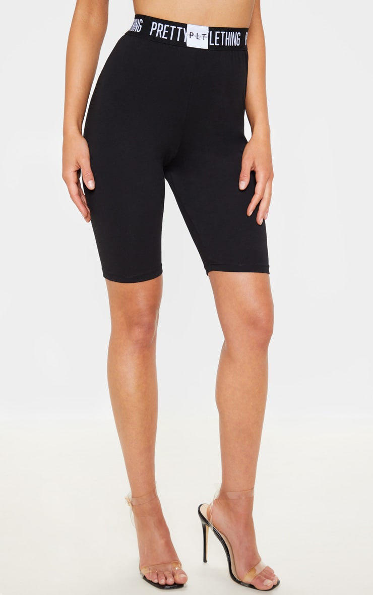 PRETTYLITTLETHING Black Bike Short 2