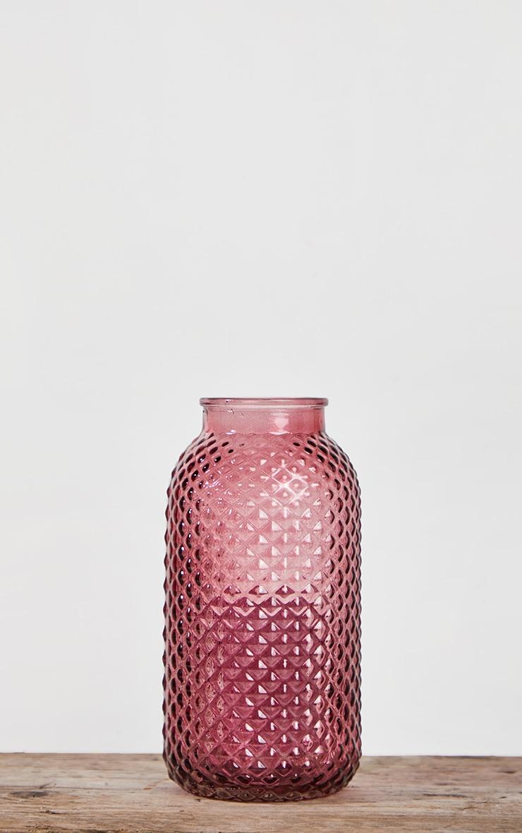 Pink Diamond Textured Tube Vase 3