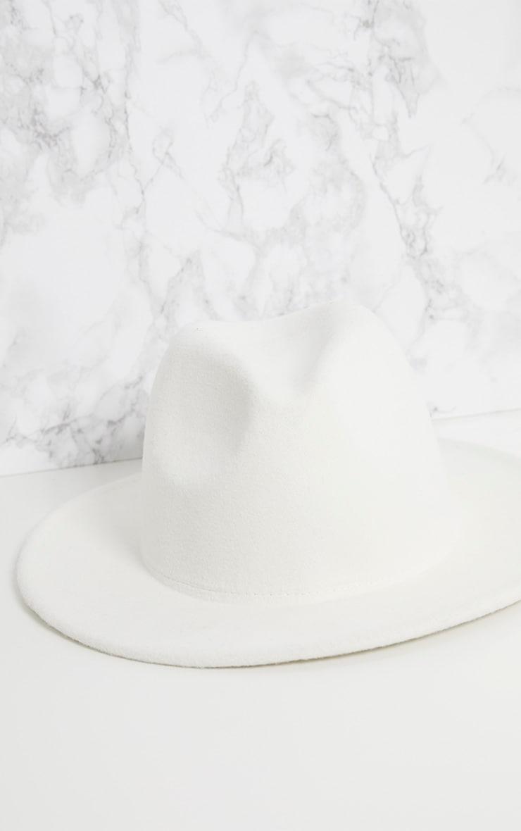 Cream Fedora Hat 5