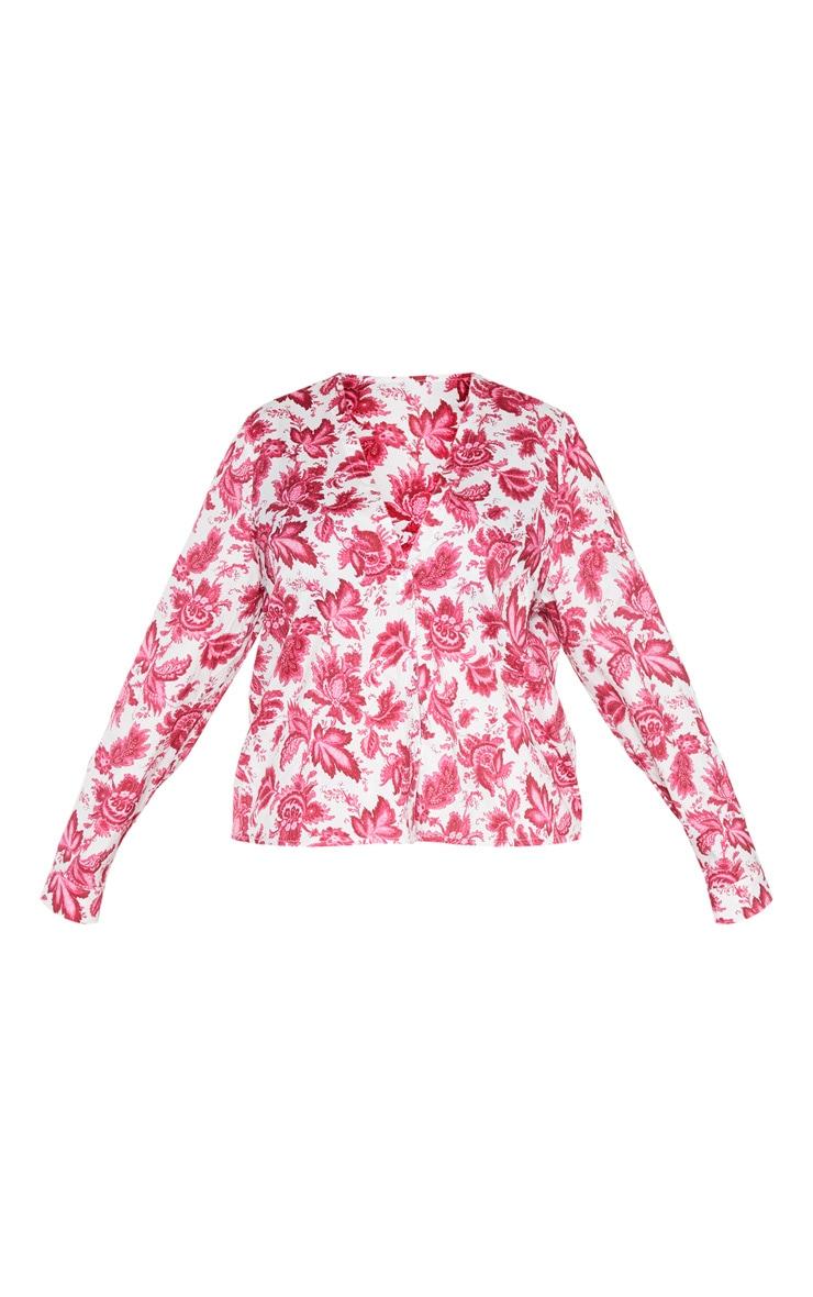 PLT Plus - Blouse rose à imprimé baroque 3