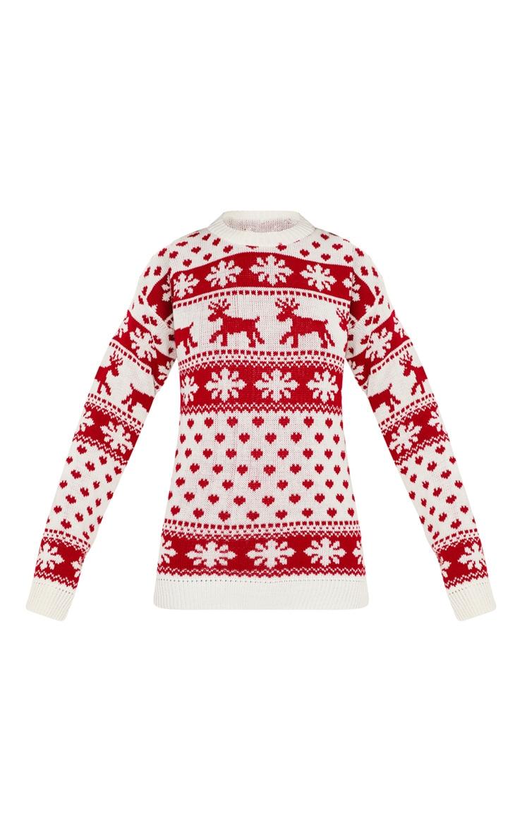 White Fairisle Knitted Sweater 3