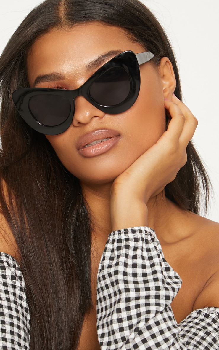 Black Mega Cat Eye Sunglasses