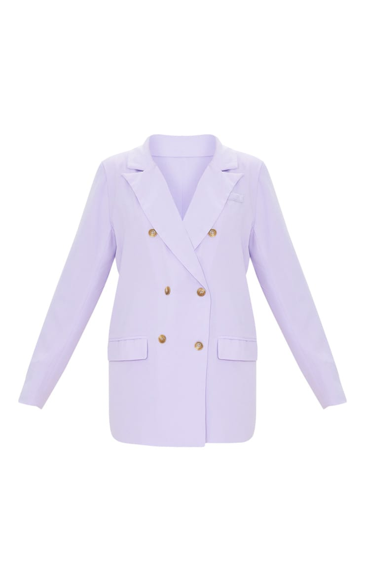 Lilac Tailored Woven Blazer 5