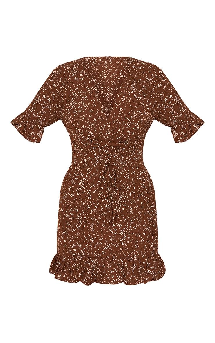 Chocolate Print Corset Swing Dress 5