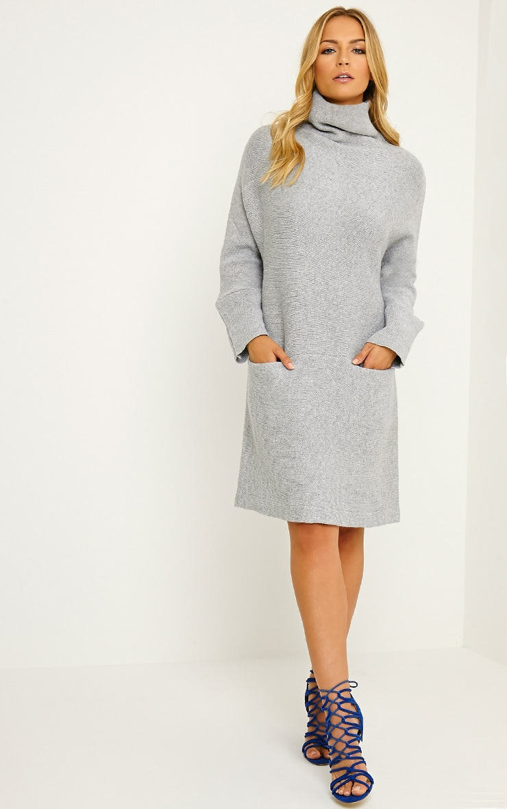 Nim Grey Oversized Knitted Dress 3