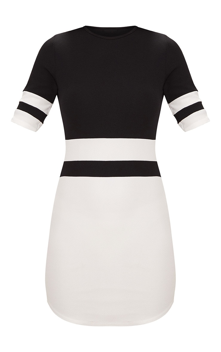 Monochrome Sports Stripe Bodycon Dress 3