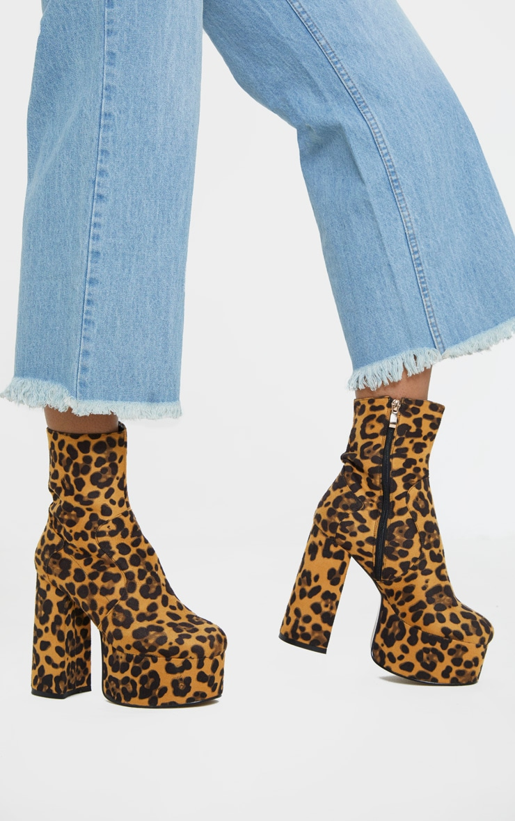 Leopard High Platform Boot 1