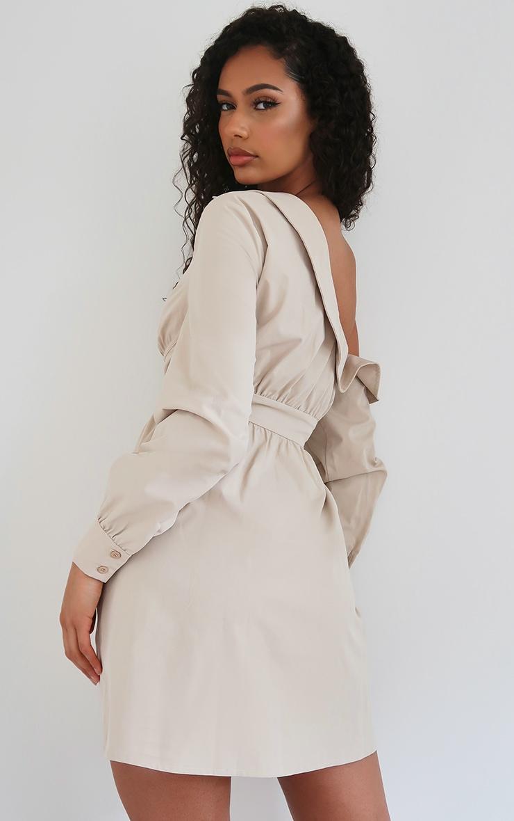 Stone Off The Shoulder Corset Detail Shift Shirt Dress 2