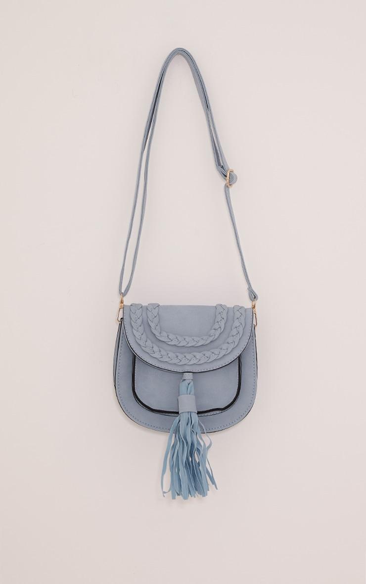 Beti Baby Blue Tassel Shoulder Bag 1