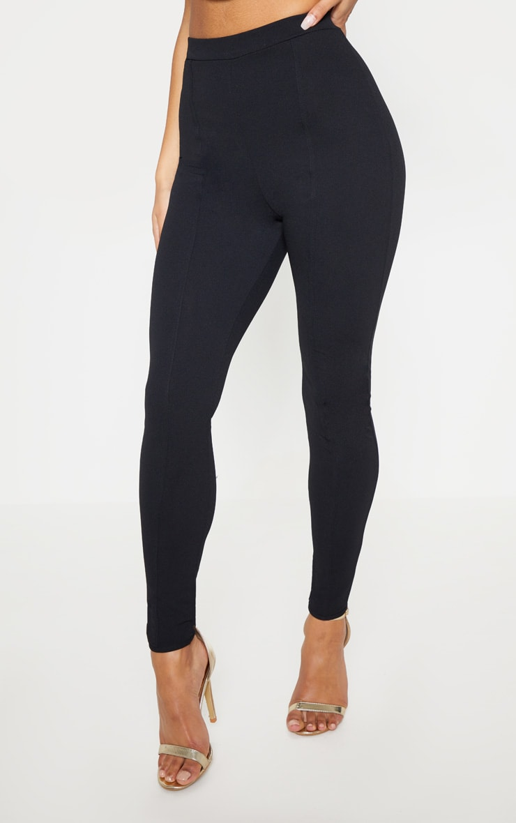 Black High Waisted Straight Leg Pants 3