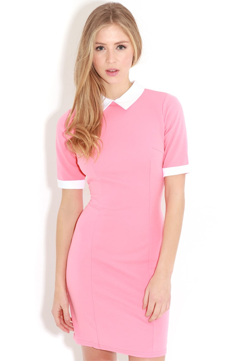 Eileen Coral Collar Dress 1