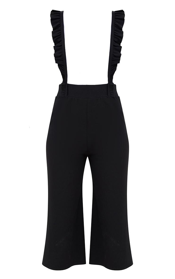 Black Frilly Brace Culottes 3