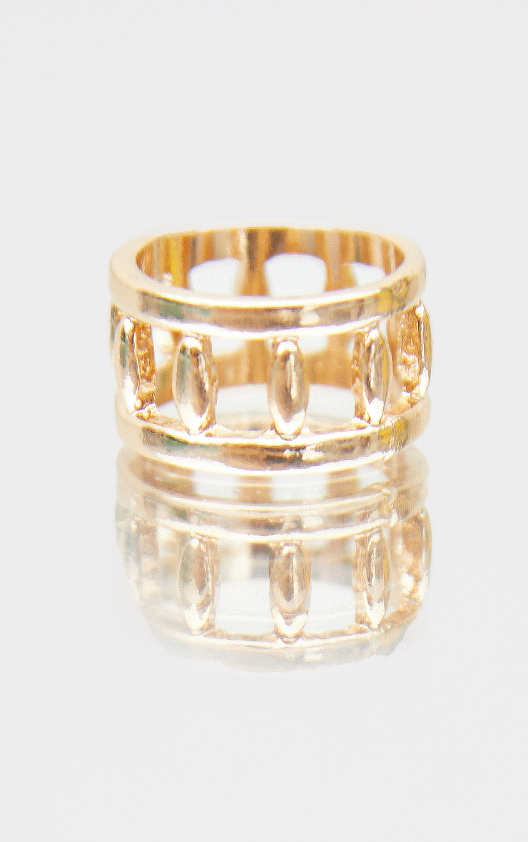 Gold Cut Out Side Ring 2
