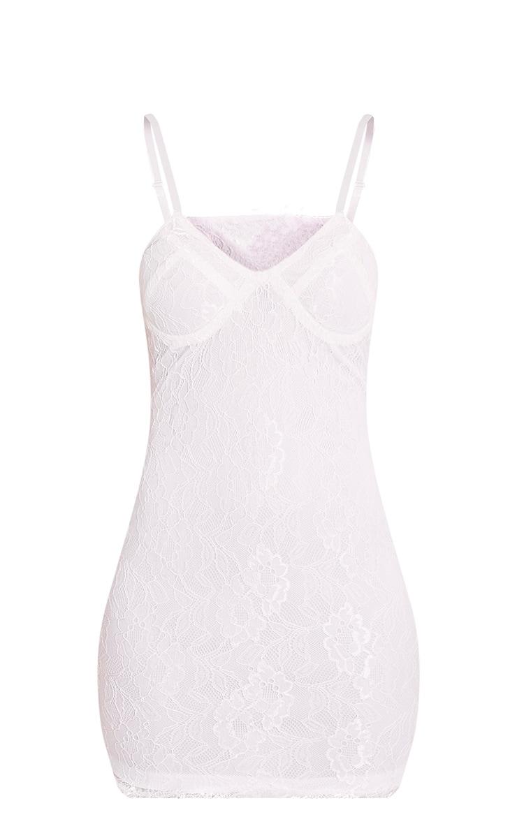 Victoria White Choker Detail Lace Bodycon Dress 5