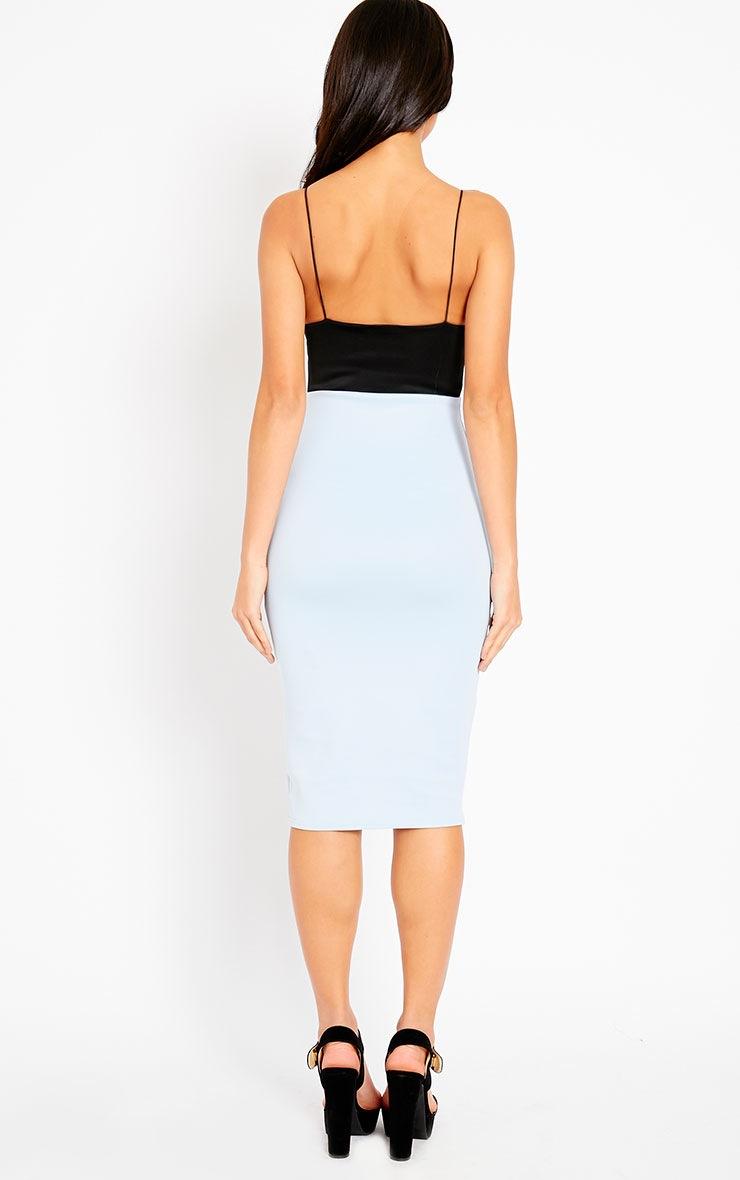 Georgia Powder Blue Colour Block Midi Dress 2