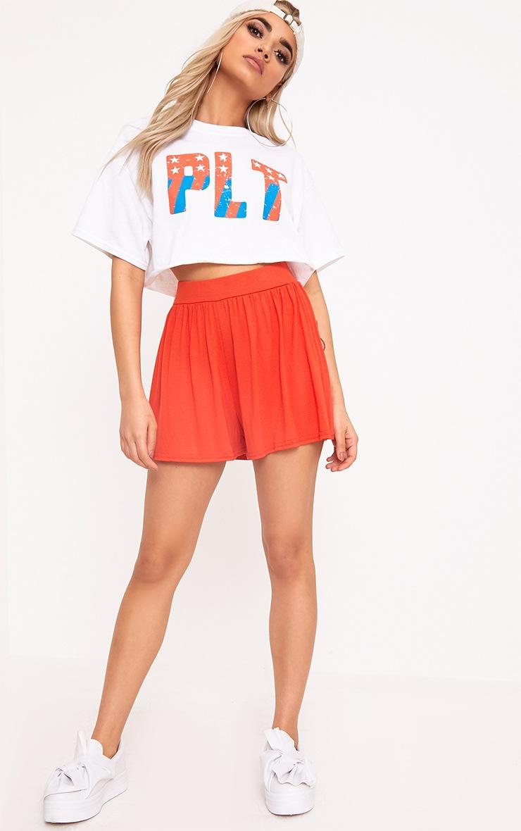Orange Jersey Floaty Shorts 5
