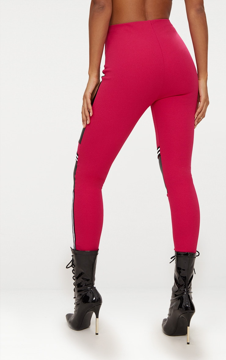 Fuchsia Motocross Panelled Trousers 4