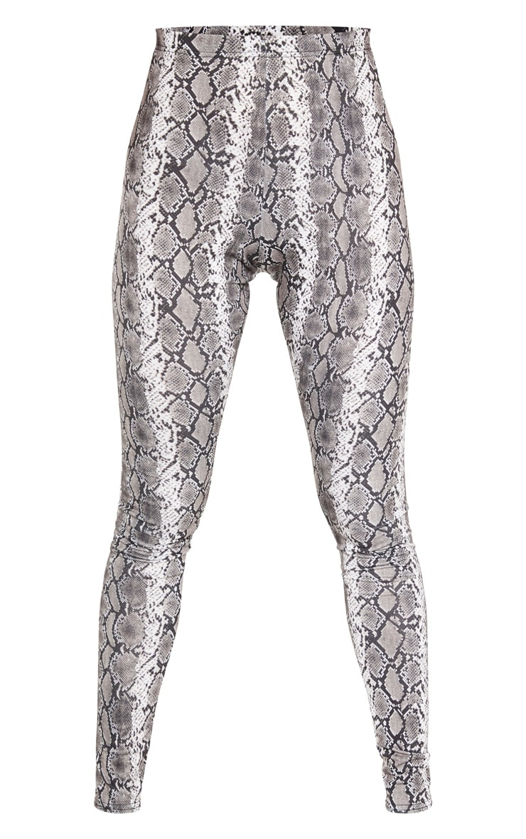 Grey Snake Print Leggings 3