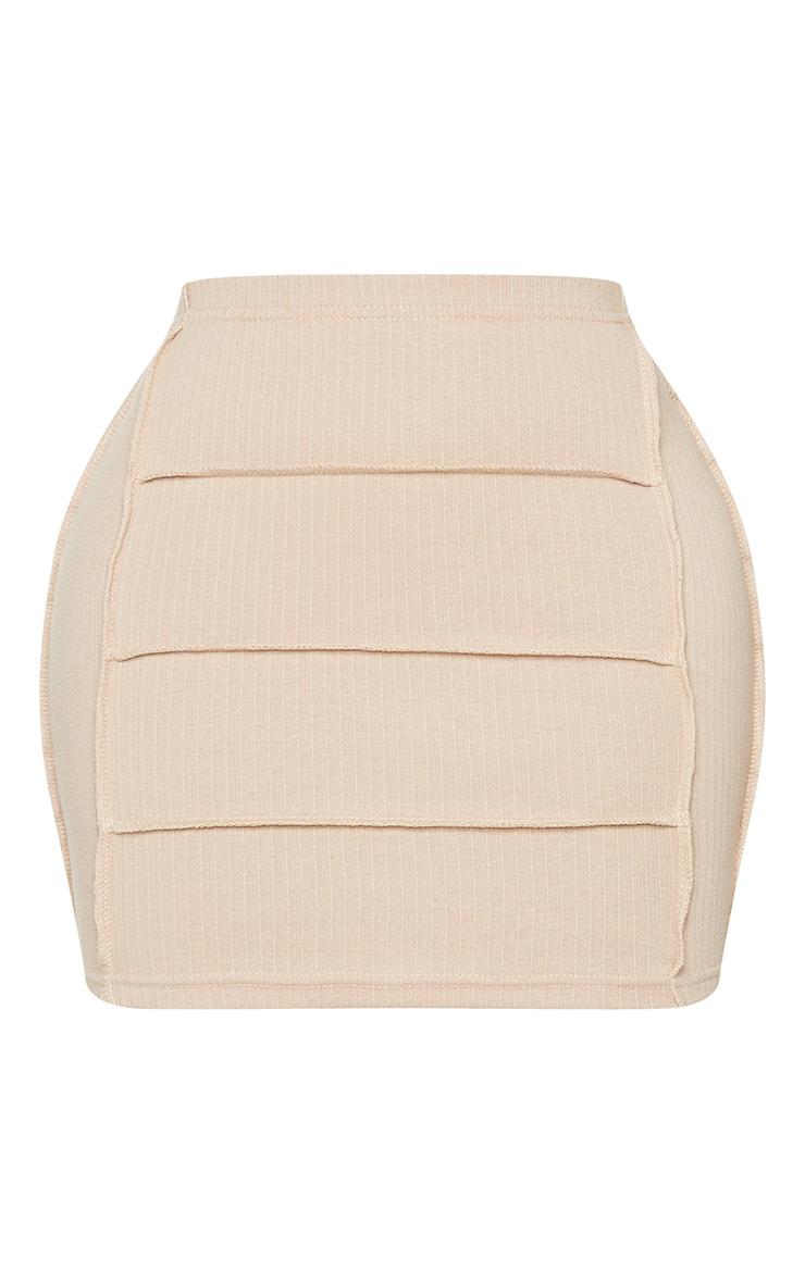 Shape Stone Rib Panel Bodycon Skirt 6