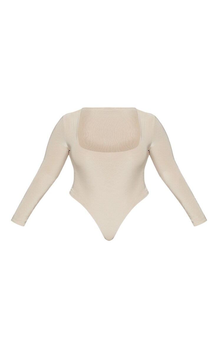 Plus Stone Second Skin Square Neck Thong Bodysuit 2