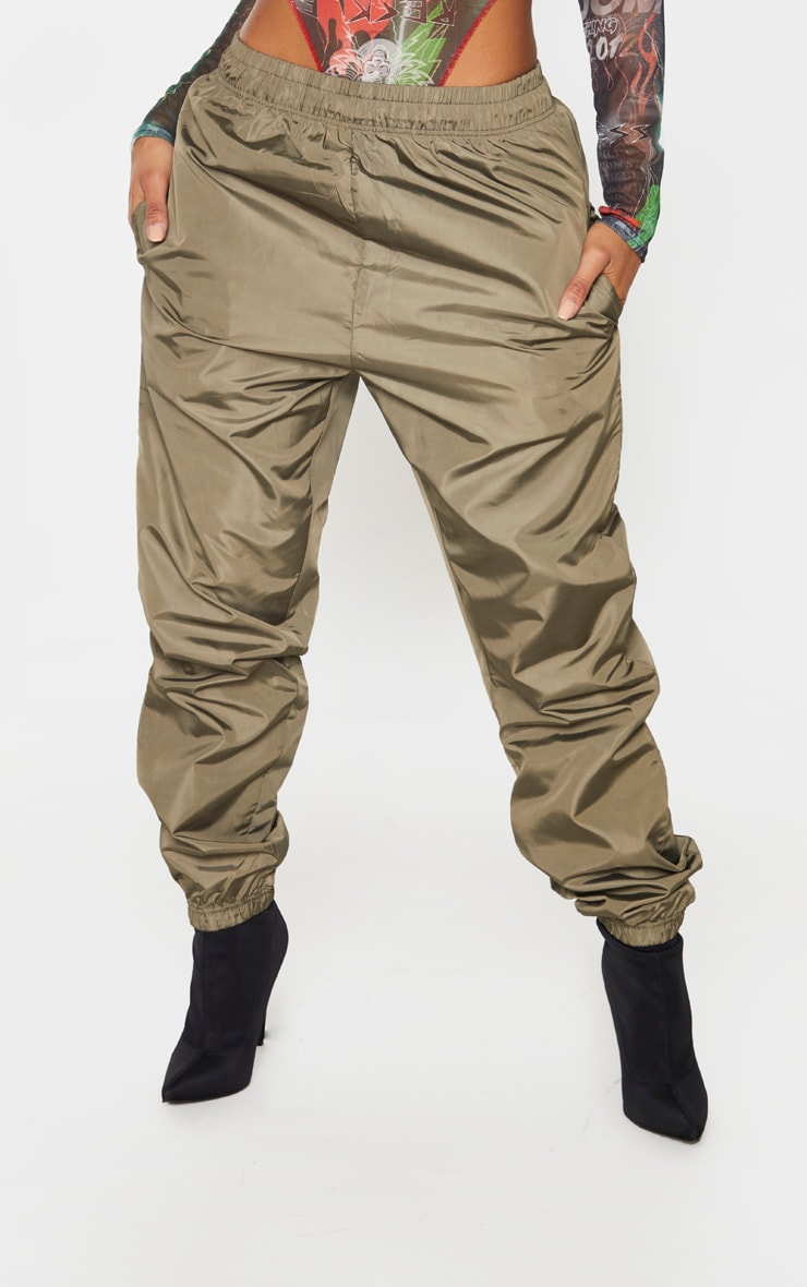 Shape Khaki High Waist Shell Track Pants 2