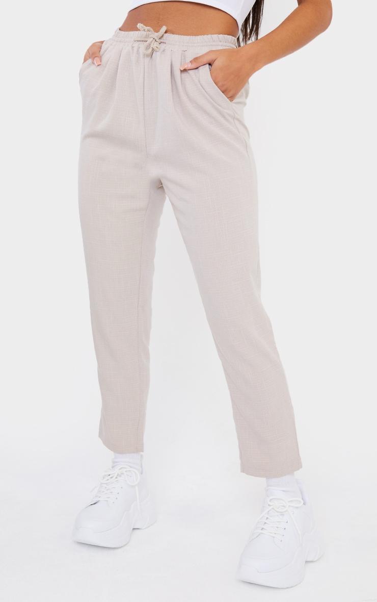 Pantalon style casual gris pierre 2